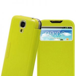 Baseus Cool Brushed Call ID View PU Leather and Plastic Cover Case for B9500 Green
