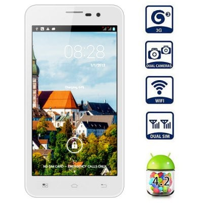 5 inch Flying F6770 Android 4.2 3G Phablet HD 720P Screen MTK6589 Quad Core 1.2GHz 8MP Camera