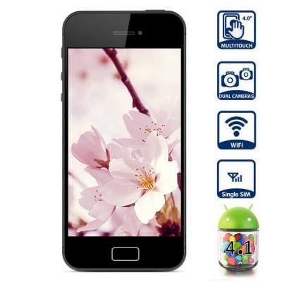 Unlocked Android 4.1 4.0 inch WVGA Screen MT6517 Dual Core Smart Phone Dual Camera 8GB WiFi Bluetooth