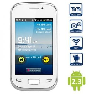 3.5 inch S5292 Android 2.3 Smartphone SP6280A 1.0GHz WVGA Screen WiFi Dual Cameras
