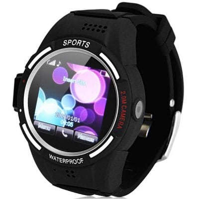 TW320 Quad Band Water Resist Sport Watch Phone with 1.5 inch Touch Screen Camera