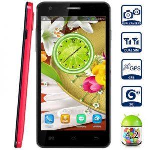 5.0 inch M20 Android 4.2 3G Phablet MTK6582 Quad Core 1.3GHz 1GB RAM 4GB ROM QHD Screen GPS Dual Cameras