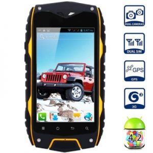 Android 4.2 Z6 3G Smartphone MTK6572 Dual Core 1.0GHz 4GB ROM GPS Waterproof Shockproof Dustproof With 4.0 inch WVGA Screen