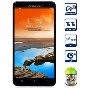 Lenovo S939 6.0 inch Android 4.2 3G Phablet MTK6592 Octa Core 1.7GHz 1GB RAM 8GB ROM HD Screen GPS Dual Cameras