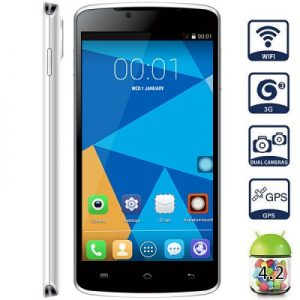 DOOGEE MINT DG330 Android 4.2 3G Phablet with 5.0 inch WVGA Screen MTK6582 1.3GHz Quad Core 1GB RAM 4GB ROM GPS Dual Cameras