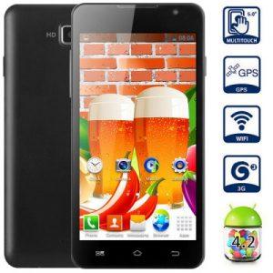 JIAKE F1W GPS Android 4.2 3G Smartphone 1.2GHZ MTK6572 Dual Core 512MB RAM 4GB ROM 5.0 inch Dual Cameras WVGA