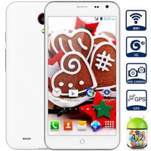 Android 4.2 3G Phablet with 5.0 inch WVGA Screen MTK6572 1.2GHz Dual Core 4GB ROM GPS Dual Cameras