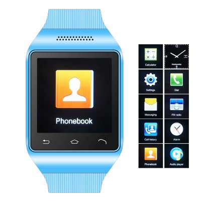 Q3 1.54 inch Touch Screen Watch Phone with Single SIM MP3 FM Bluetooth