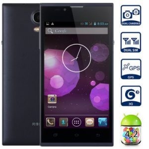 H90W Android 4.2 3G Phablet with 4.7 inch WVGA Screen MTK6572 1.0GHz Dual Core 4GB ROM GPS Gesture Sensing Dual Cameras