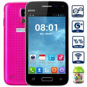 Mini G9600 Android 4.4 3G Smartphone with 4.0 inch WVGA Screen SC7715 1.0GHz Single Core WiFi Dual Cameras