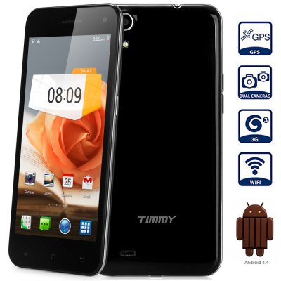 Timmy E5 Android 4.4 3G Phablet with 5.0 inch HD Screen MTK6582 1.3GHz Quad Core 2GB RAM 4GB ROM WiFi GPS Gesture Sensing Dual Cameras