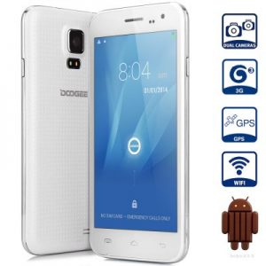 DOOGEE DG310 Android 4.4 3G Phablet with 5.0 inch WVGA IPS Screen MTK6582 1.3GHz Quad Core 1GB RAM 8GB ROM WiFi GPS OTG Dual Cameras
