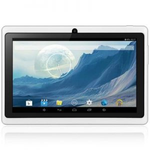 Q88H Android 4.4 Tablet PC with 7 inch WVGA Screen A23 Dual Core 1.2GHz Dual Cameras WiFi 4GB ROM