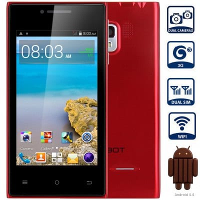 CUBOT GT72+ Android 4.4 3G Smartphone with 4.0 inch WVGA Screen MTK6572 1.0GHz Dual Core 4GB ROM WiFi Dual Cameras