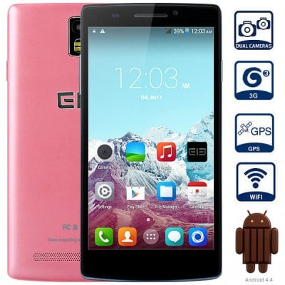 Elephone G5 Android 4.4 3G Smartphone with 5.5 inch HD IPS Screen MTK6582 1.3GHz Quad Core 1GB RAM 8 GB ROM WiFi GPS Gesture Sensing Dual Cameras