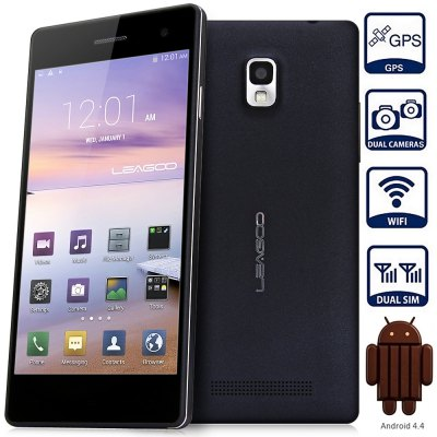 LEAGOO LEAD 2 Android 4.4 3G Phablet with 5.0 inch QHD IPS Screen MTK6582 1.3GHz Quad Core 1GB RAM 8GB ROM WiFi GPS Dual Cameras