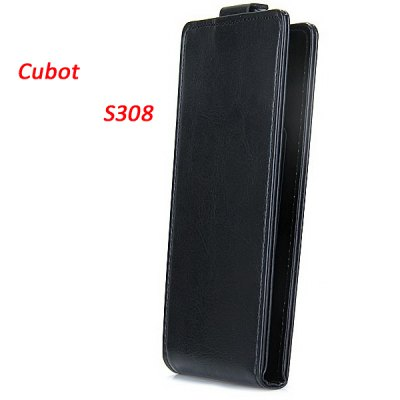 Cubot S308 Leather + Plastic Fashion Design Vertical Protective Wallet Case Cover