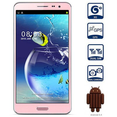 Kingelon N8000 Android 4.4 3G Phablet Unlocked Phone 5.5 inch QHD 4GB ROM MTK6582 Quad Core 13.0MP Camera Gesture Sensing GPS