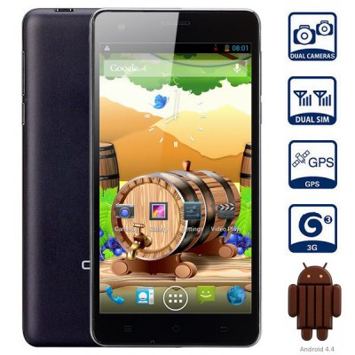 Cubot S222 Android 4.4 3G Phablet with 5.5 inch HD Screen MTK6582 Quad Core 1.3GHz 1GB RAM 16GB ROM GPS WiFi