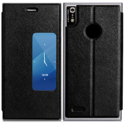 Folding Stand Style PU Protective Case for DOOGEE TURBO2 DG900 Smartphone