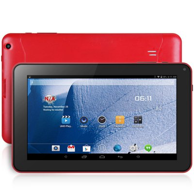 9 inch A33 Quad Core 1.3GHz Android 4.4 Tablet PC with WVGA Screen