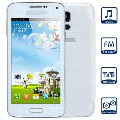 i9600 Unlocked Phone with 4.7 inch FM MP3 WiFi Bluetooth Browse Alarm Calendar Cameras
