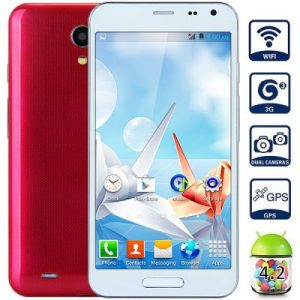 W8000 Android 4.2 3G Phablet with 5.0 inch WVGA Screen MTK6572 1.0GHz Dual Core 4GB ROM WiFi GPS Dual Cameras