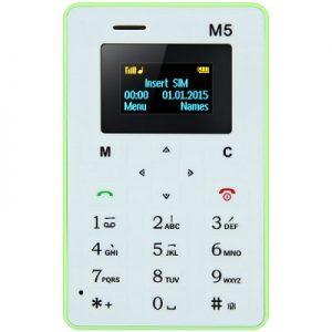 Lightest Weight 1.0 inch AIEK M5 Mini Unlocked Phone