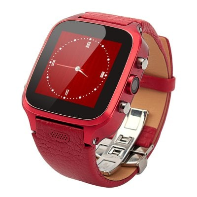 FIFINE W9 with Genuine Leather Watchband Android 4.4 1GB RAM 8GB ROM 3G Smart Watch Phone 5.0MP Camera