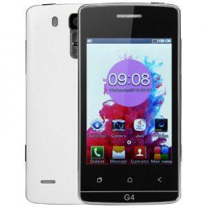 G4 max 4.0 inch Quad Band Unlocked Phone FM Dual SIM MP3