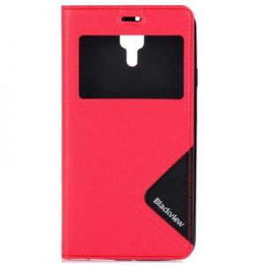 View Window Leather Protective Case TPU Back Cover Fitting for Blackview Alife P1 Pro