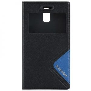 Original Blackview Breeze V2 View Window Leather Protective Case with TPU Back Cover