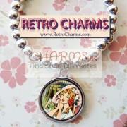 Pulsera elastica de bolitas Mujer Comic Vintage