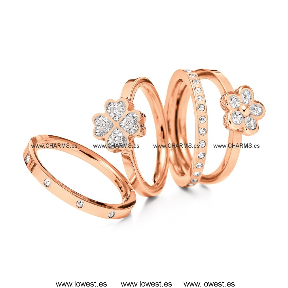 HEART4HEART & FOLLIE DI FIORI ANILLO BOX SET Folli Follie
