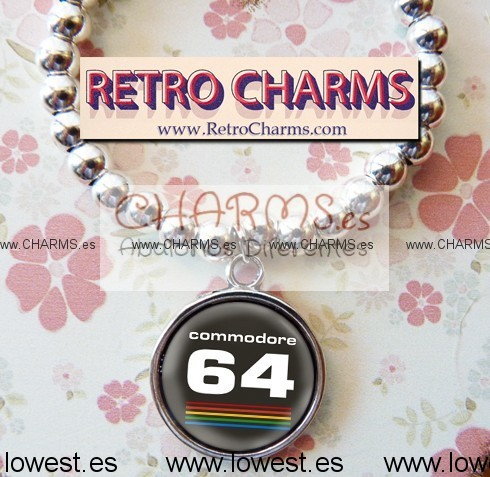Pulsera elastica de bolitas con RetroCharm Mod 4940003