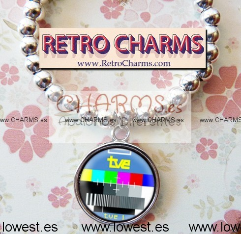 Pulsera elastica de bolitas con RetroCharm modelo 4940042