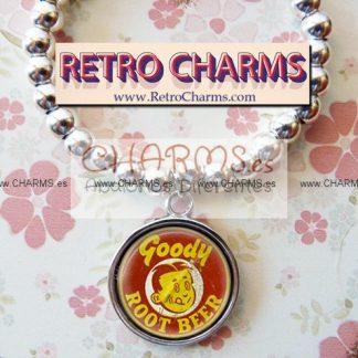 Pulsera elastica de bolitas Chapa Vintage RootBeer