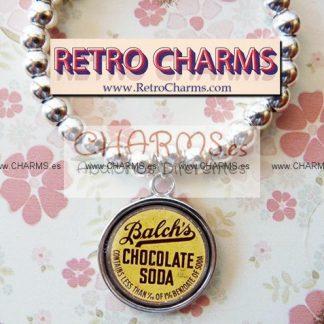 Pulsera elastica de bolitas Chapa Chocolate Soda Vintage