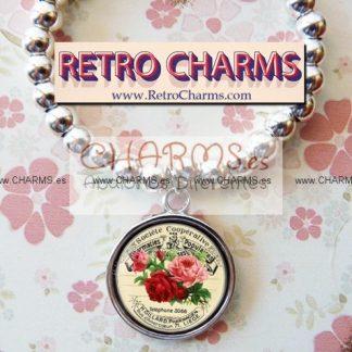 Pulsera elastica de bolitas Rosas Vintage