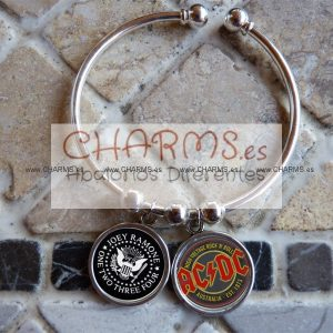 Pulsera con 2 RetroCharms Super Rockeras Retro