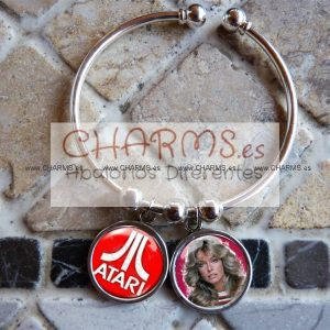 Pulsera con 2 RetroCharms Ochentera Total