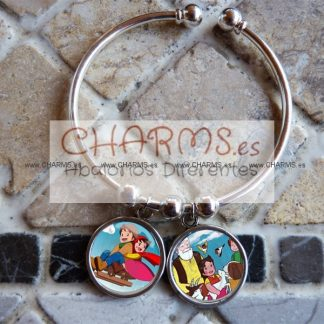Pulsera con 2 RetroCharms Dibus Heidi