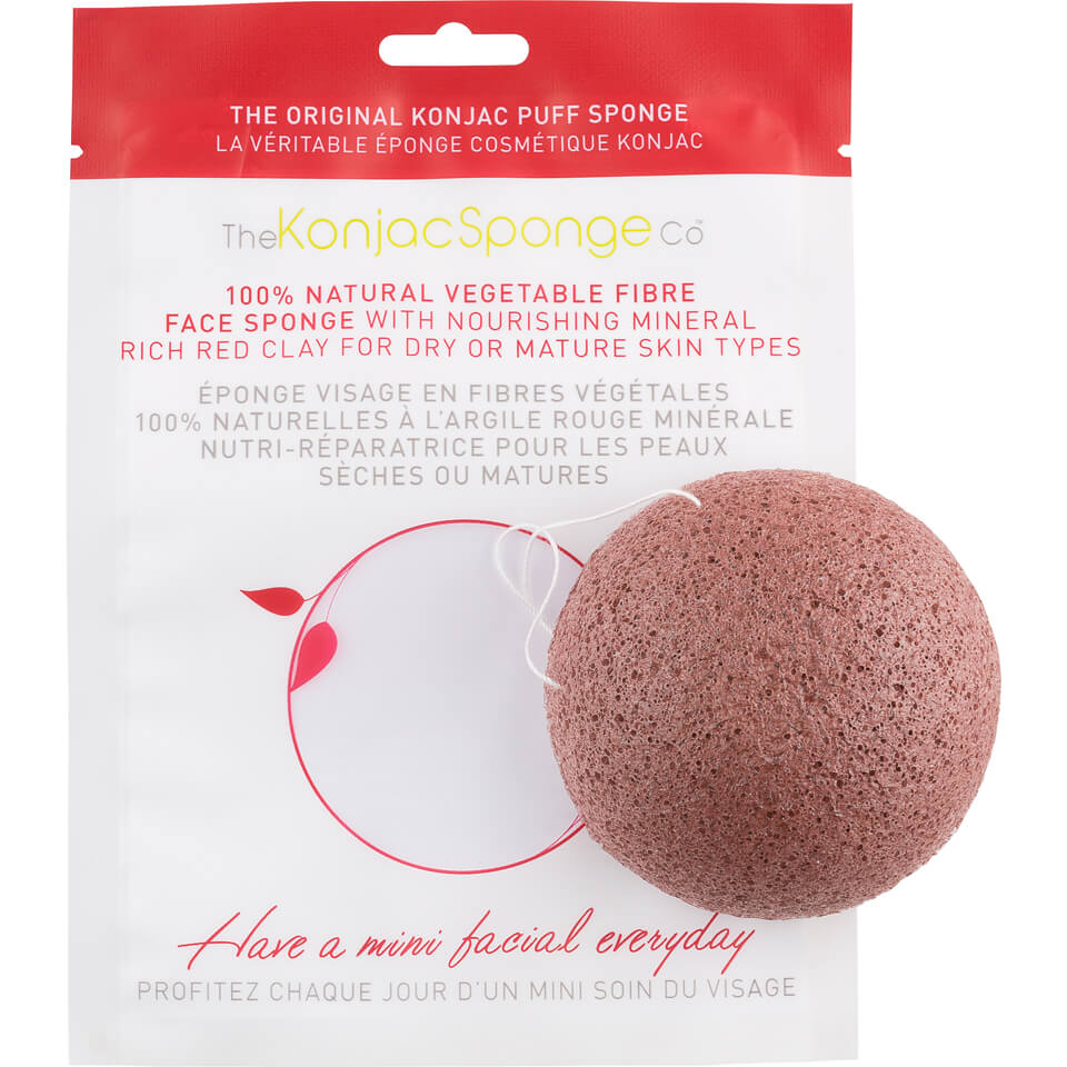 Konjac Sponge Puff with Added French Red Clay