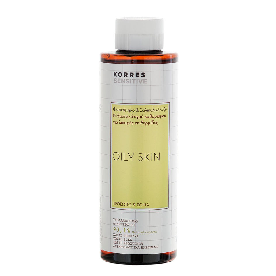 Gel regulador rostro y cuerpo para la piel grasosa Korres Salvia y el acido salicilico