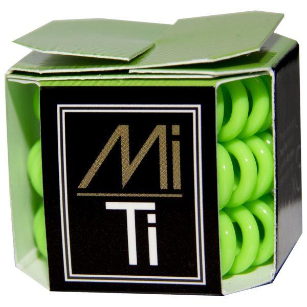 MiTi Professional Hair Tie - Fluorescent Green (3pc)