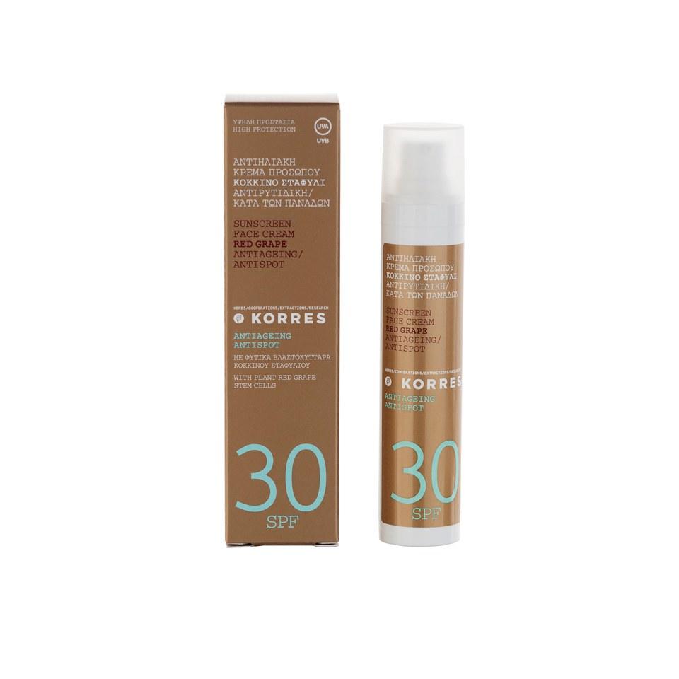 Korres Red Grape Antispot Face Cream SPF30 (50ml)