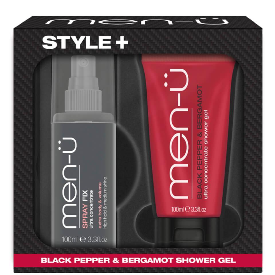 men-u Style+ Black Pepper & Bergamot Shower Gel 100ml - Spray Fix