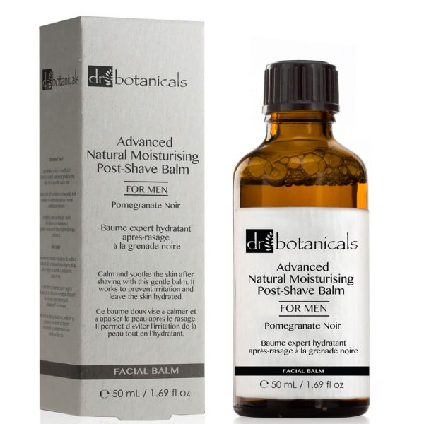 Dr Botanicals Pomegranate Noir Advanced Natural Moisturising Post-Shave Balm para hombre 50ml