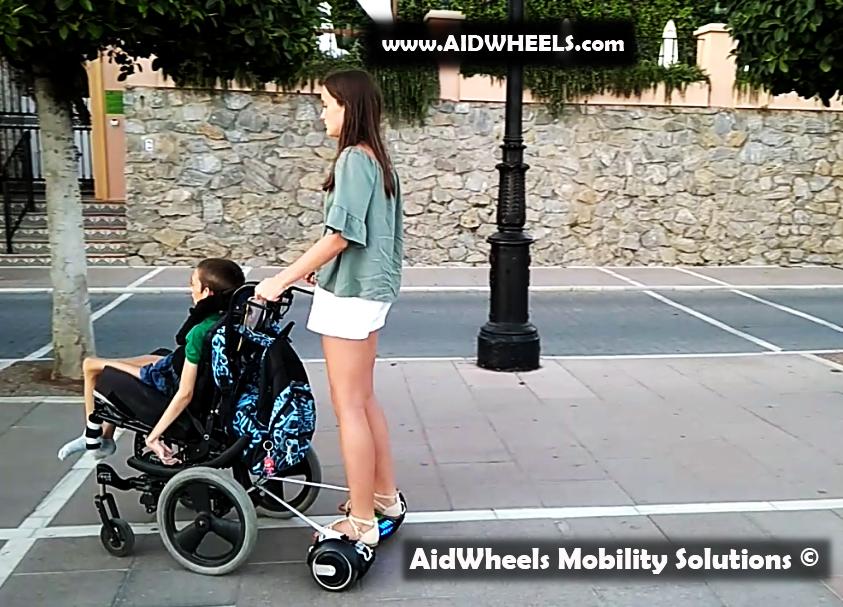 silla de ruedas con patinete electrico hoverboard