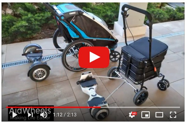 aidwheels carlett thule chariot hoverboard